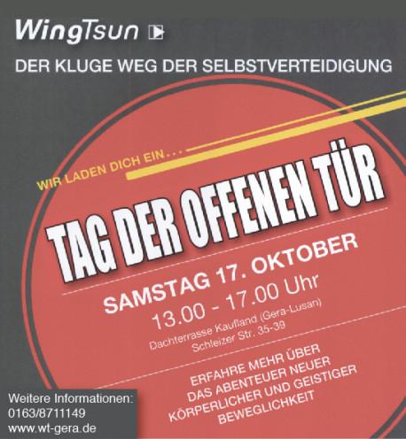 Tag der offenen Tür im Oktober - Selbstverteidigung und sich verteidigen Live erleben